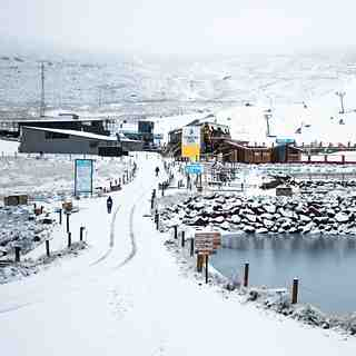Afriski Mountain Resort Snow: Snow falling at Afri-Ski