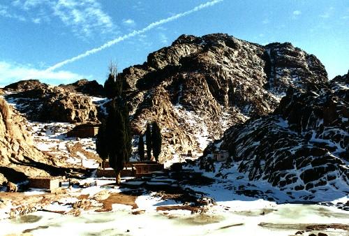 melting snow, Egypt, Jabal Katherina