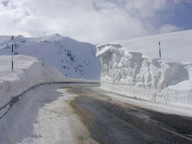 A dangerous road, Baqueira/Beret