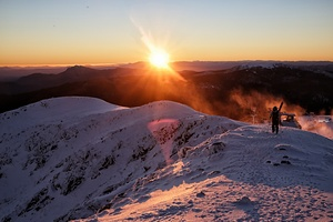 A morning ski in Australia., Mount Buller photo