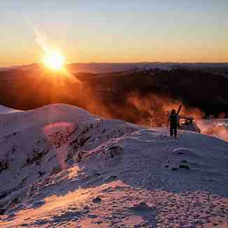 A morning ski in Australia., Mount Buller