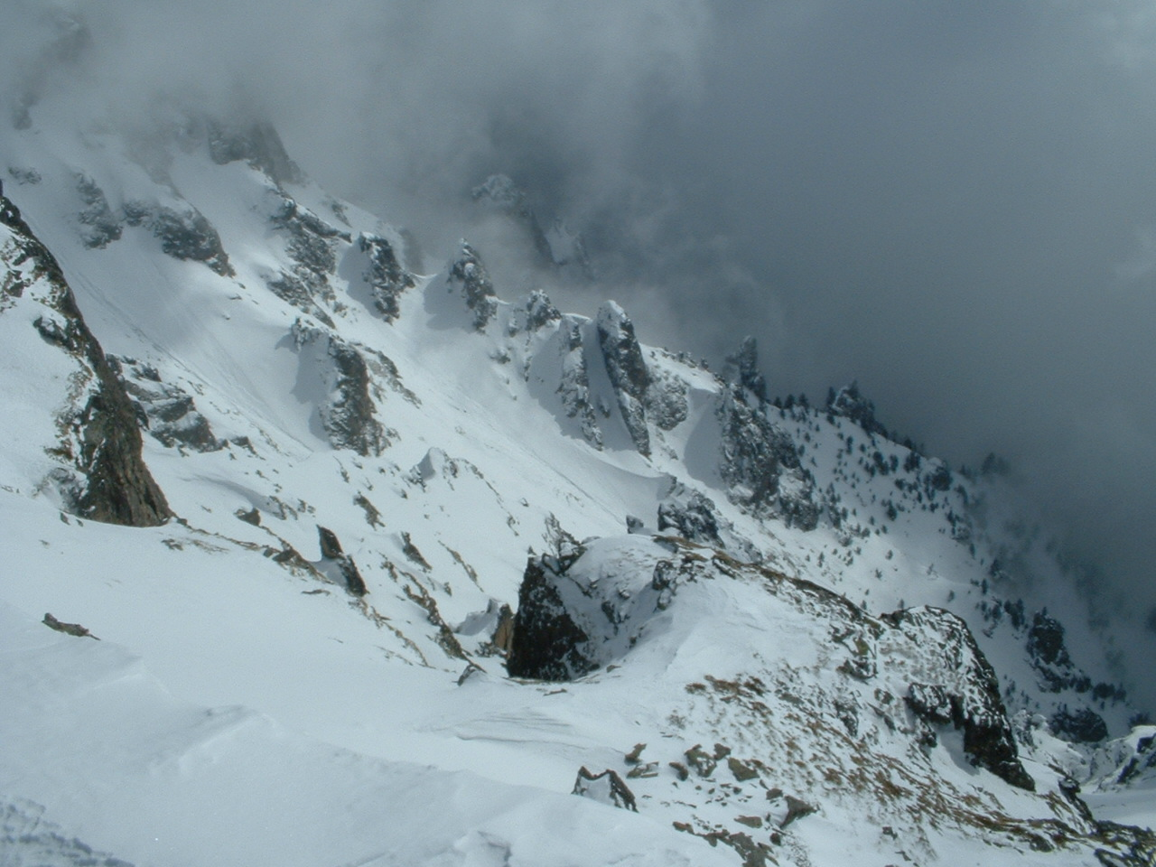 The Goat Couloir, 1 month before the first descent, Sunshine Village