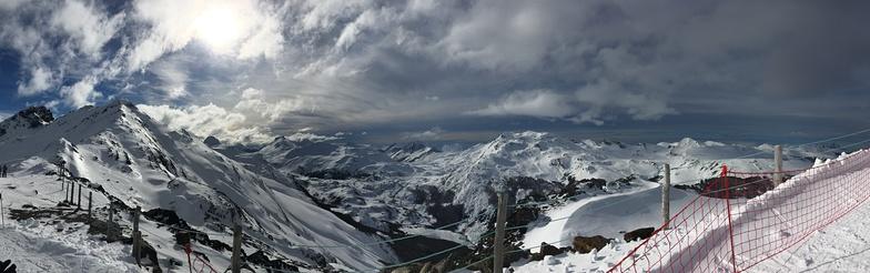 sol y nieve, Cerro Castor