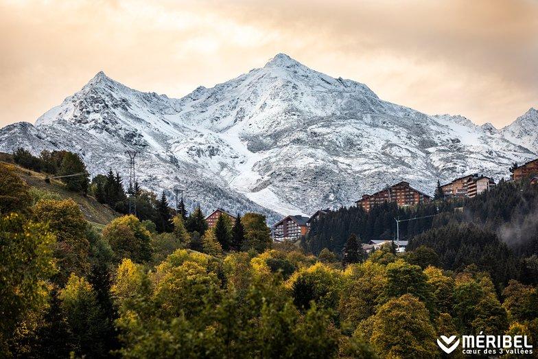 First dustings on the peaks., Méribel