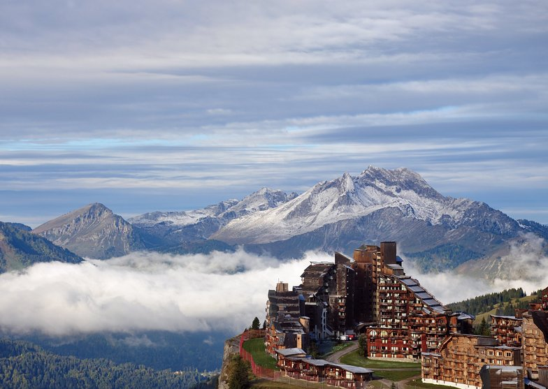 First snow on the peaks., Avoriaz