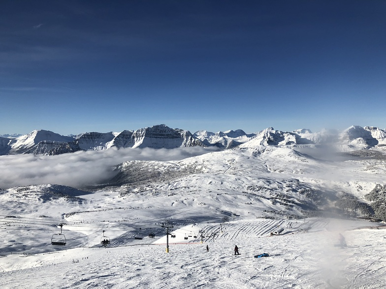 Looking north -top of divide chair, Sunshine Village