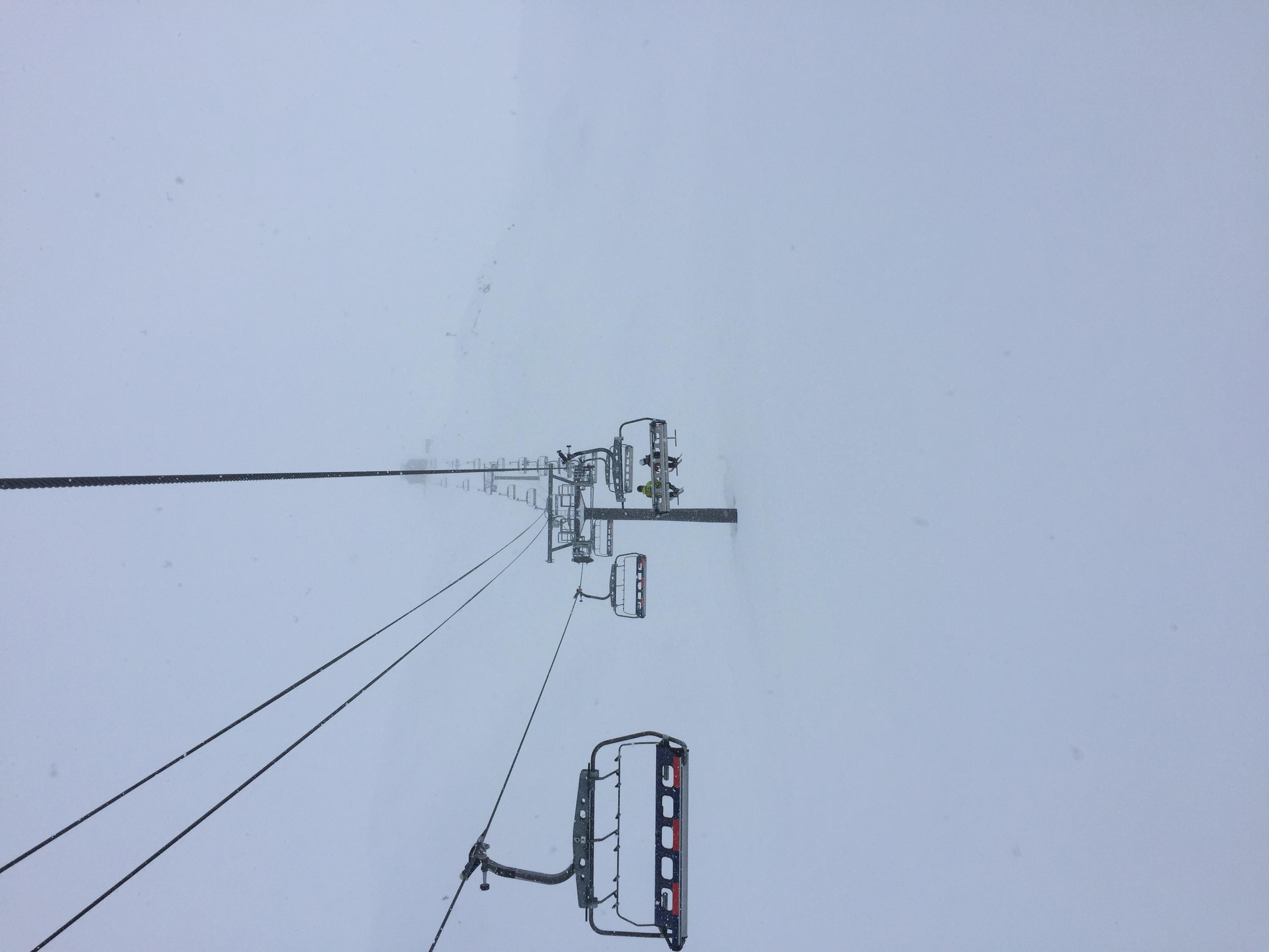 Snowy afternoon, La Plagne