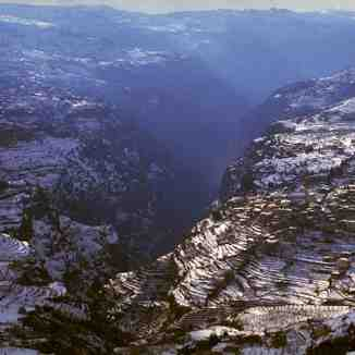 Qadicha valley and Bcharre village,lebanon, Mzaar Ski Resort