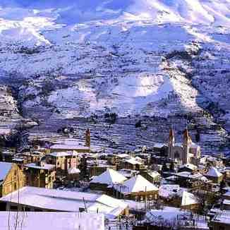 Bcharre village,lebanon, Mzaar Ski Resort