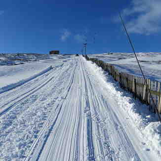 F1 being groomed, Weardale Ski Club