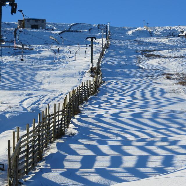 Artistic snow fencing, Weardale Ski Club