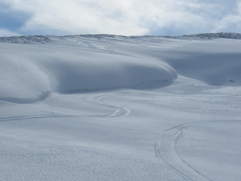 Main gully full of snow, Weardale Ski Club