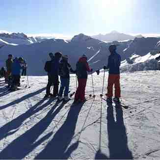 Long shadows in the morning sun, Flaine