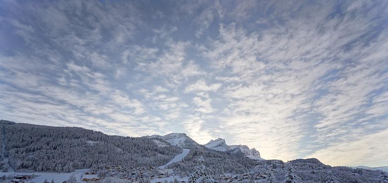 Village view Les Csrroz, Les Carroz