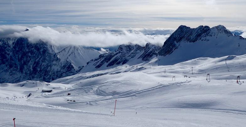 Zugspitze in March, Garmisch-Partenkirchen-Zugspitze