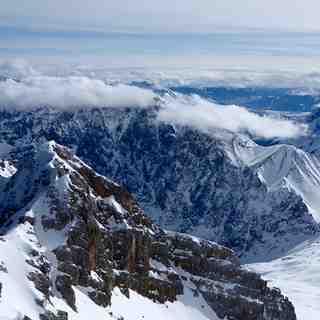 Amazing mountain scenery, Garmisch-Partenkirchen-Zugspitze