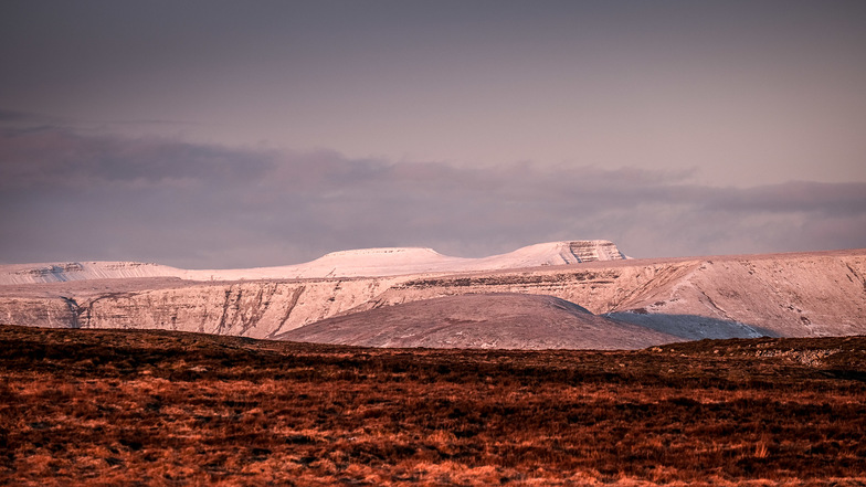 Mid January snow in the Brecon Beacons, Pen-y-Fan