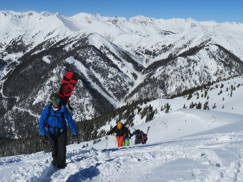 Bootpacking to Tiger Claw, Silverton Mountain