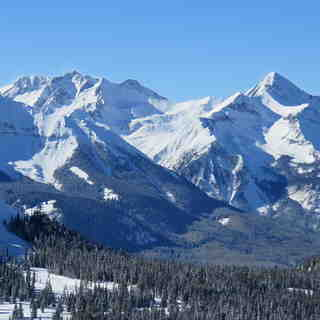 Telluride Snow: View from Telluride