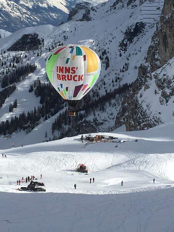 Balloon flight over DohlenNest, Axamer Lizum
