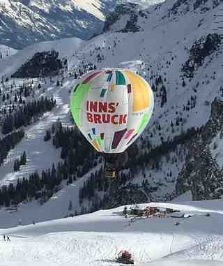 Balloon flight over DohlenNest, Axamer Lizum