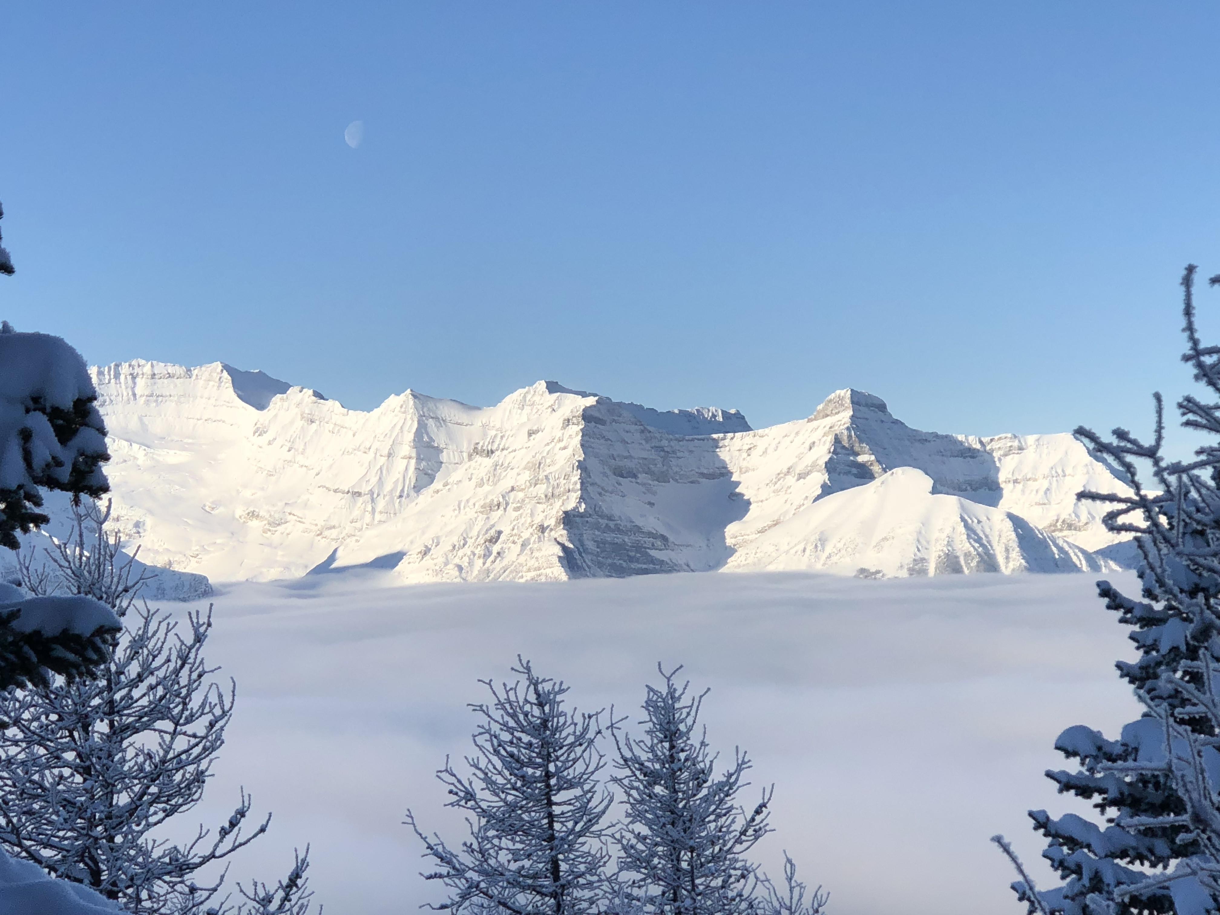 Mist over Lake Louise