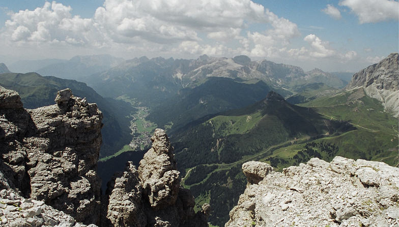 looking across the dolomites, Val Gardena