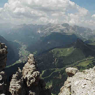 looking across the dolomites, Val Gardena