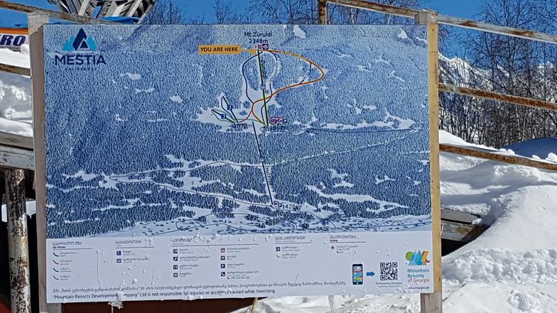 Mestia slope map