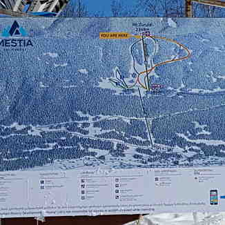 Mestia slope map