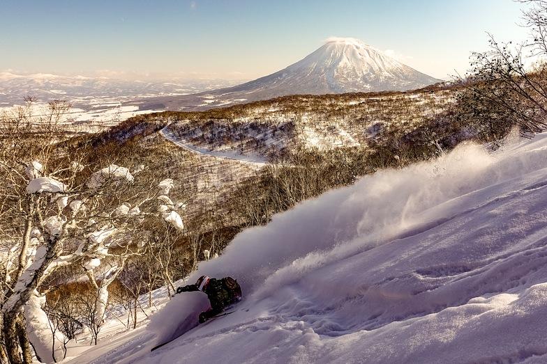 Hanazono with Mt Yotei as a backdrop, Niseko Hanazono Resort