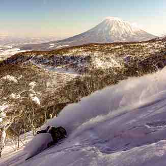 Hanazono with Mt Yotei as a backdrop, Niseko Hanazono Resort