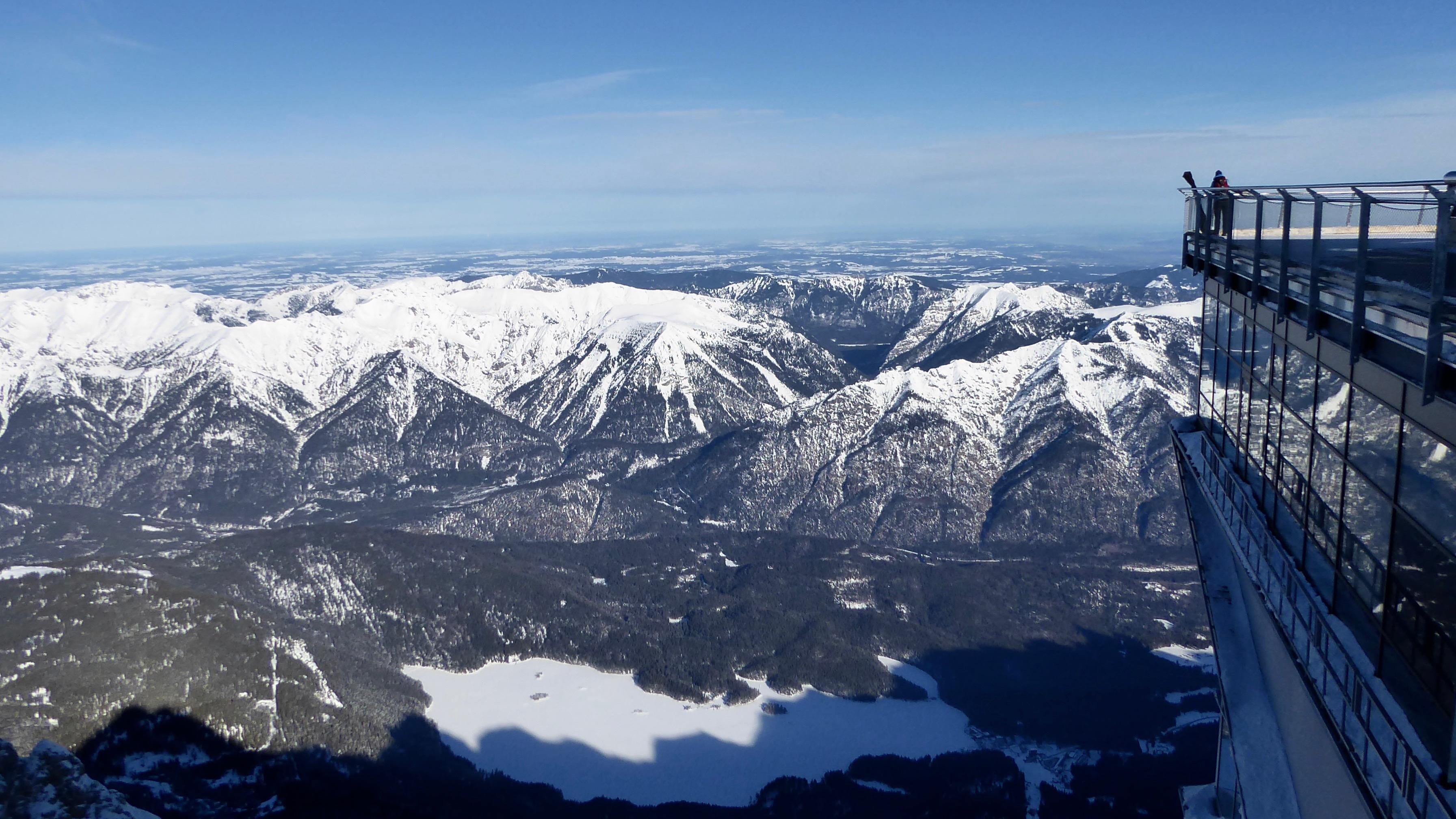 Cable car on top of Zugspitze, Garmisch-Partenkirchen-Zugspitze