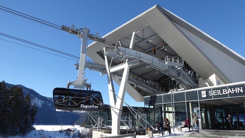 New cable car to Zugspitze summit., Garmisch-Partenkirchen-Zugspitze
