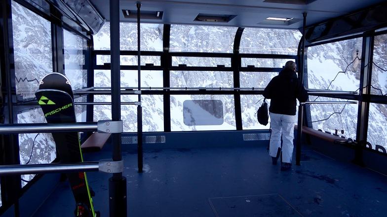 Inside new cable car, Garmisch-Partenkirchen-Zugspitze