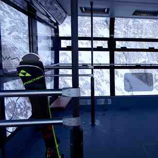 Inside new cable car, Garmisch-Partenkirchen-Zugspitze