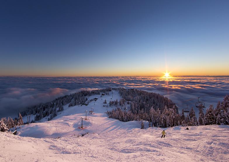 Winter Inversion, Grouse Mountain