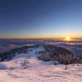Winter Inversion, Grouse Mountain