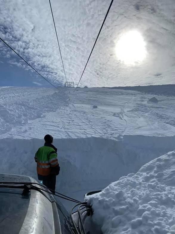 Fonna Glacier snow