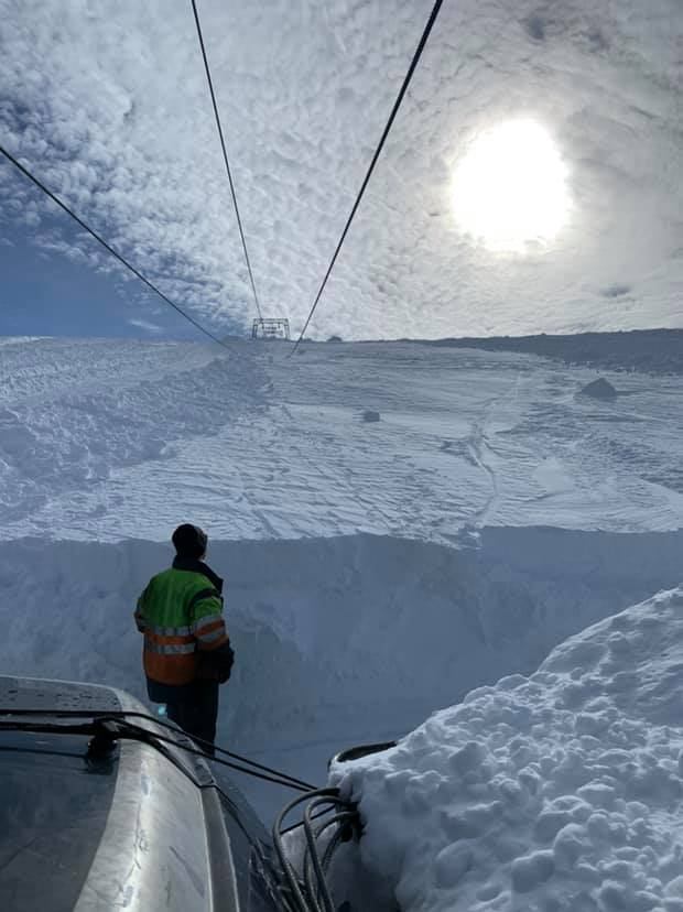 Opening earlier than usual on the 14th April., Fonna Glacier