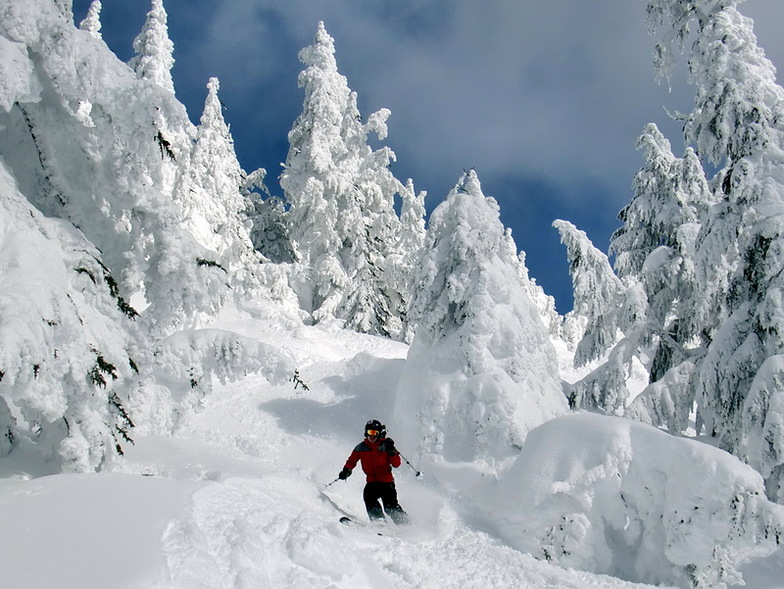 Coming down the backside of Cowboy Mountain, Stevens Pass