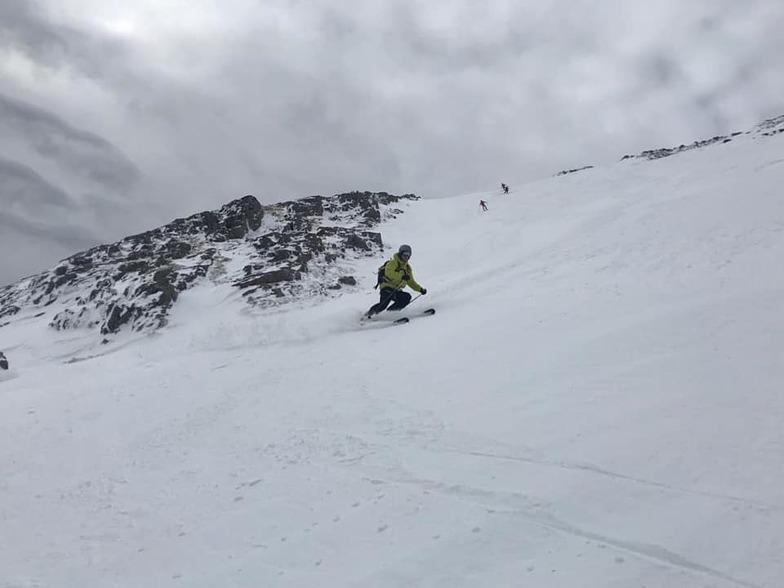 Ski area remains open after fresh snow., Glencoe Mountain Resort