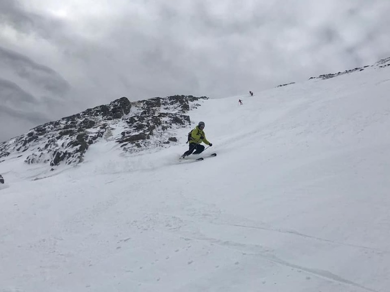 Ski area remains open after fresh snow., Glencoe Mountain Resort