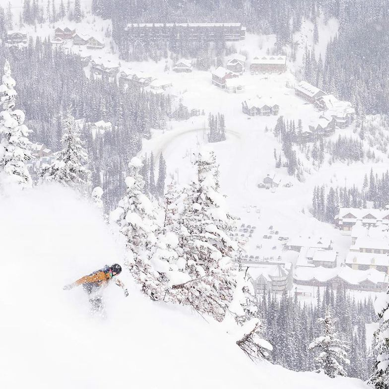 The snow is back in BC, Canada., Apex Resort