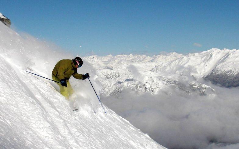 Untracked down Peak Bowl, Whistler Blackcomb