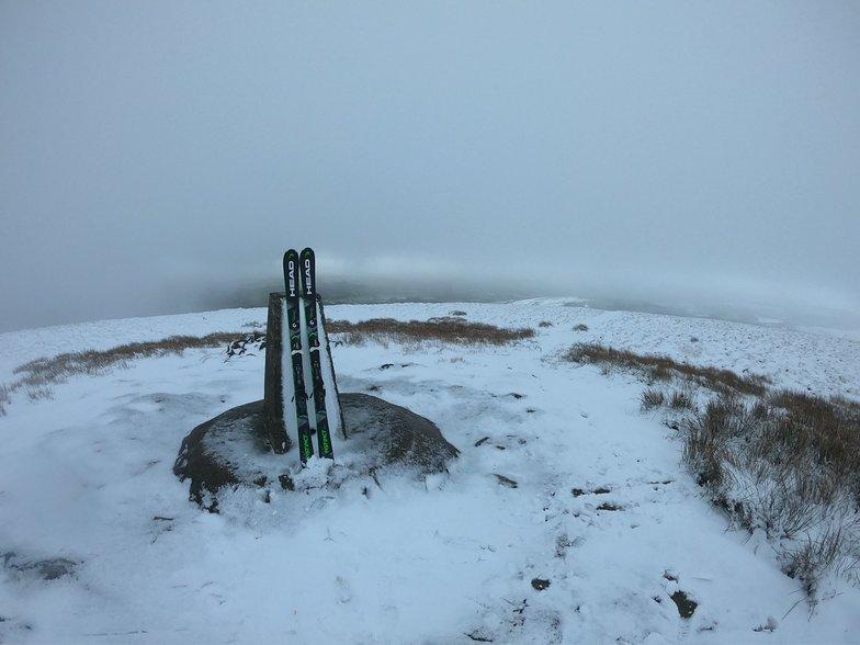 The summit of Foel Cwmcerwyn