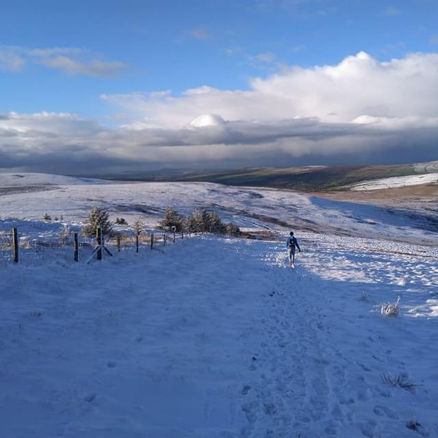 Sunny skies at Foel Cwmcerwyn