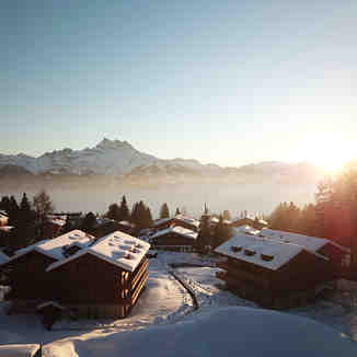 Sunset over Domaine Du Roc, Villars