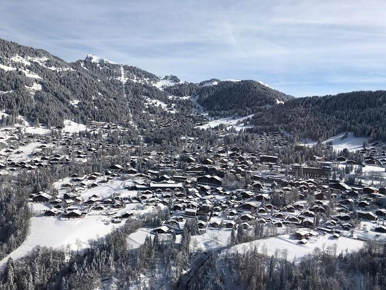 Villars on a beautiful winter day