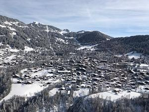 Villars on a beautiful winter day photo